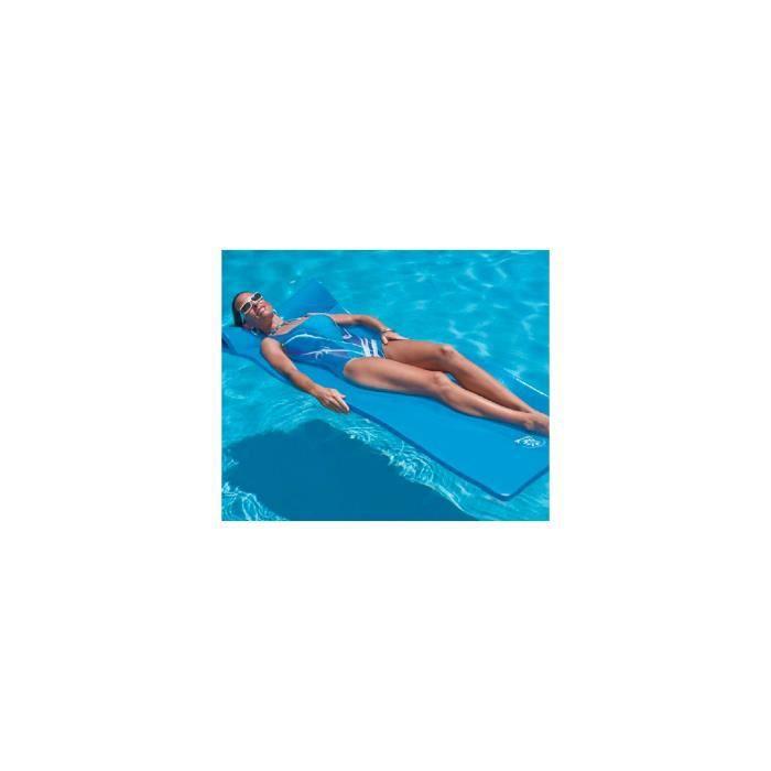 Matelas mousse Sunray bleu 178 x 63 x 3,2 pour piscines enterrées et hors-sol