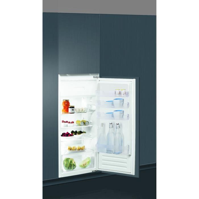 INDESIT Z21A2DI - Réfrigérateur 1 porte avec freezer - Encastrable - 189L (171 + 18) - Froid statique - A+ - L 56 x H 122.5 cm