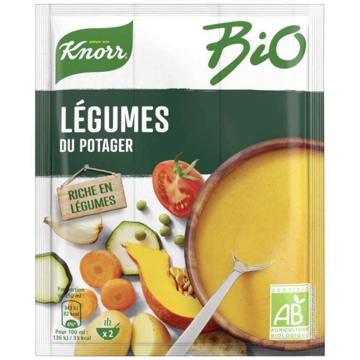 KNORR Potages déshydratées de Légumes - Bio - Sachet de 49 g