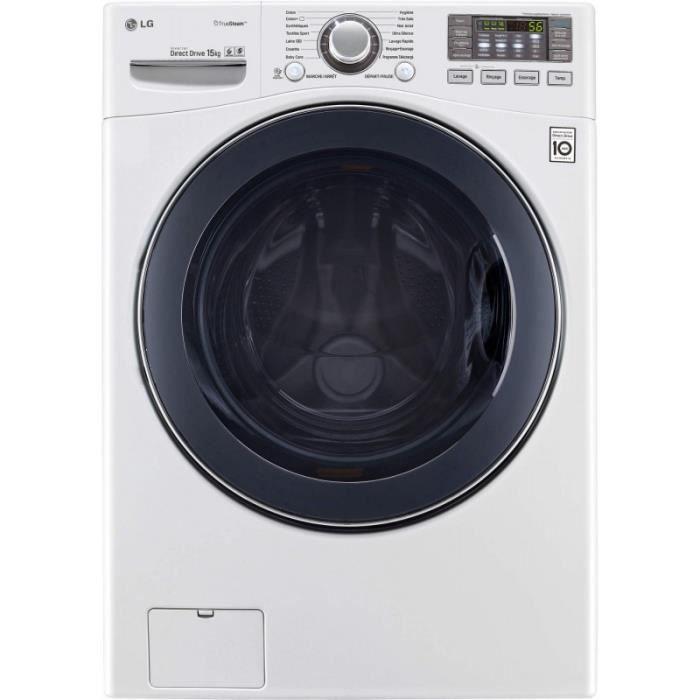 Lave-linge LG - Lave-linge 15 Kg - 1100 tr/min - 6 Motion DirectDrive (F51K24WH) • Lave-linge