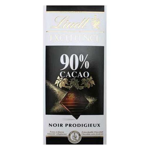 Lindt Excellence Noir Prodigieux 90% Cacao (lot de 2)