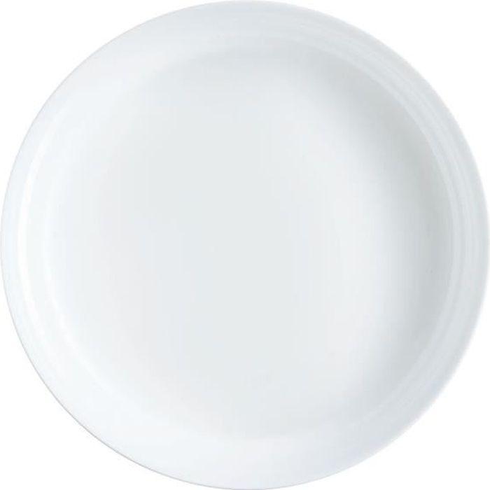 Plat à four rond 250°C 30cm Diwali - Luminarc - opale culinaire extra léger et résistant