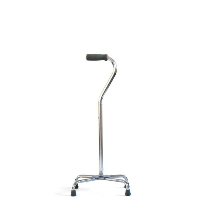 MILL'O SANTE Canne quadripode - Aluminium léger - Hauteur : 74 – 96 cm - 0,84 kg - Poids supporté : 100 kg