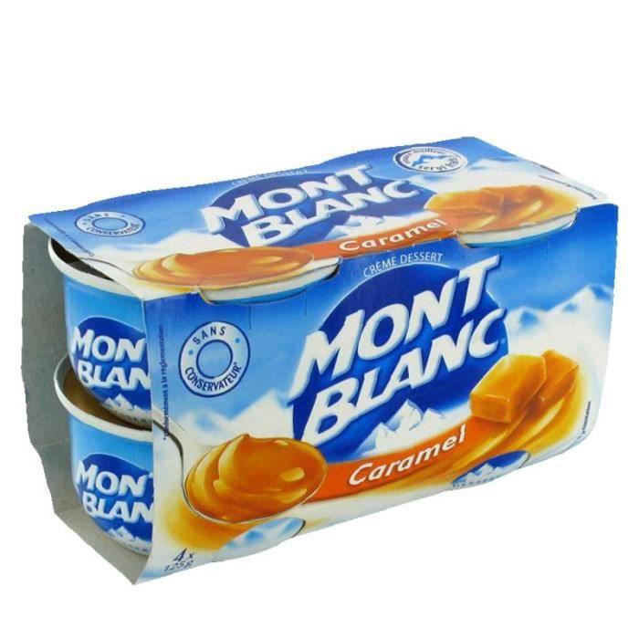 Lot de 4 Mini crèmes desserts Mont Blanc - 500 g