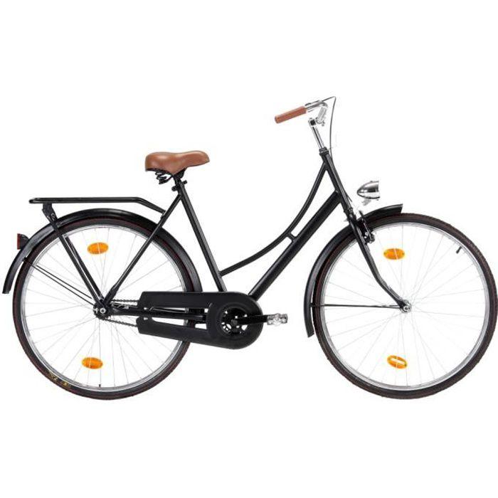 vidaXL Vélo hollandais à roue de 28 pouces 57 cm pour femmes,O2