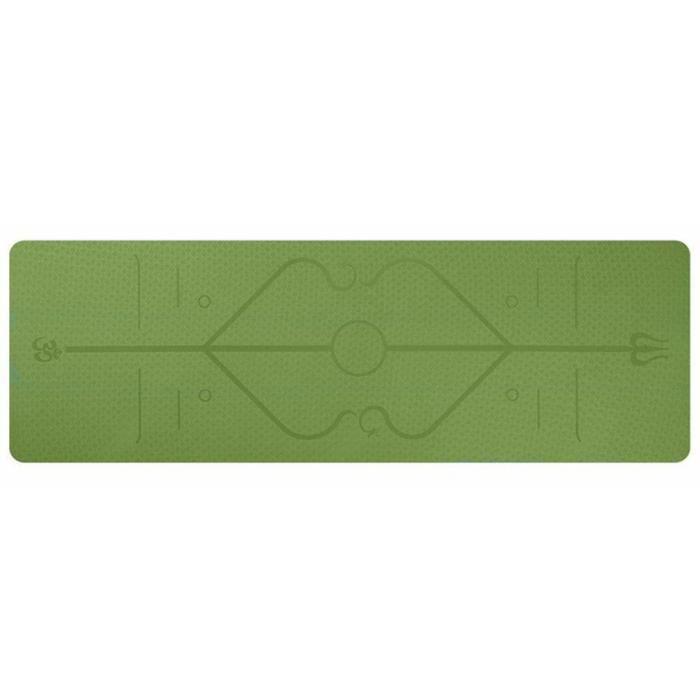 Tapis Yoga -Tapis De Sport Fitness a La Maison -Tapis de Pilates,Poids léger,Antidérapant 183 * 61 * 0,6 cm vert
