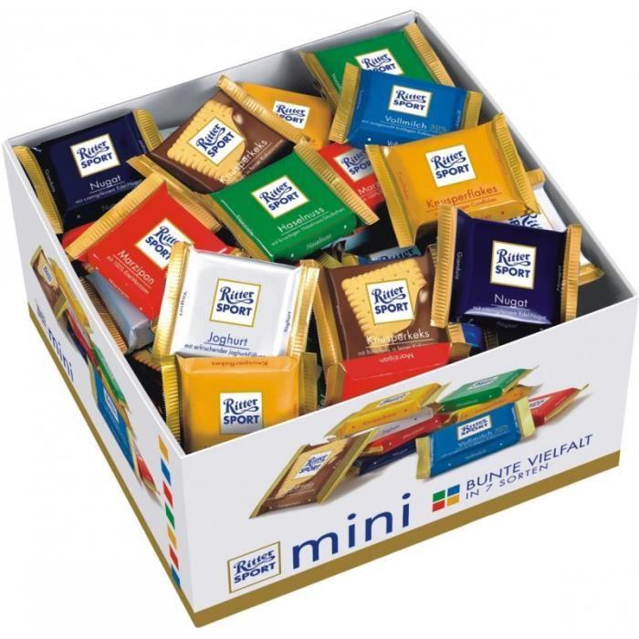 Ritter Sport Mini, chocolat, 84 pièces