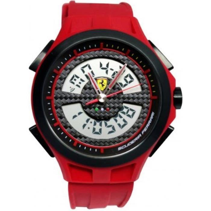 Scuderia Ferrari 830019 Montre Homme Analogique - Digitale Bracelet Silicone