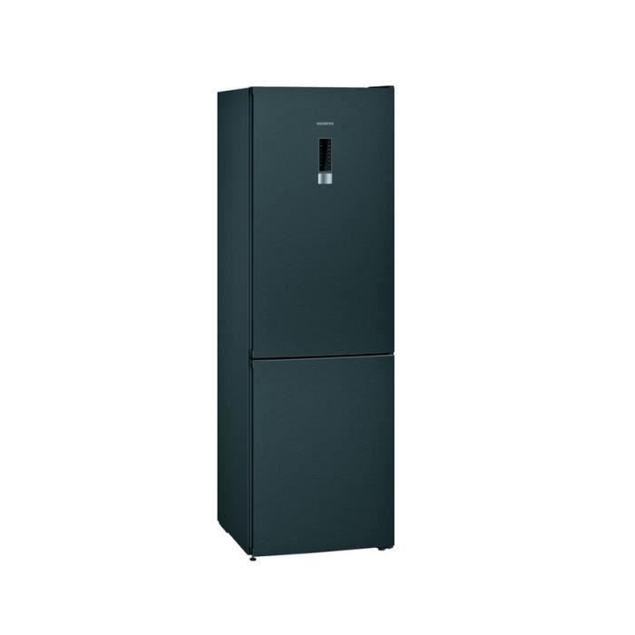 siemens - réfrigérateur combiné 60cm 324l a+++ nofrost noir - kg36nxxdc