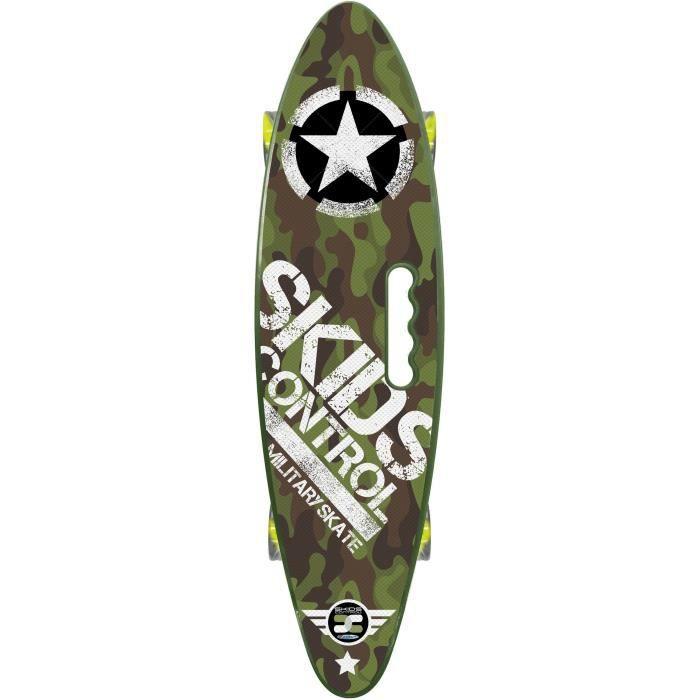 STAMP Skateboard 24 x 7 avec poignée Skids Control Military