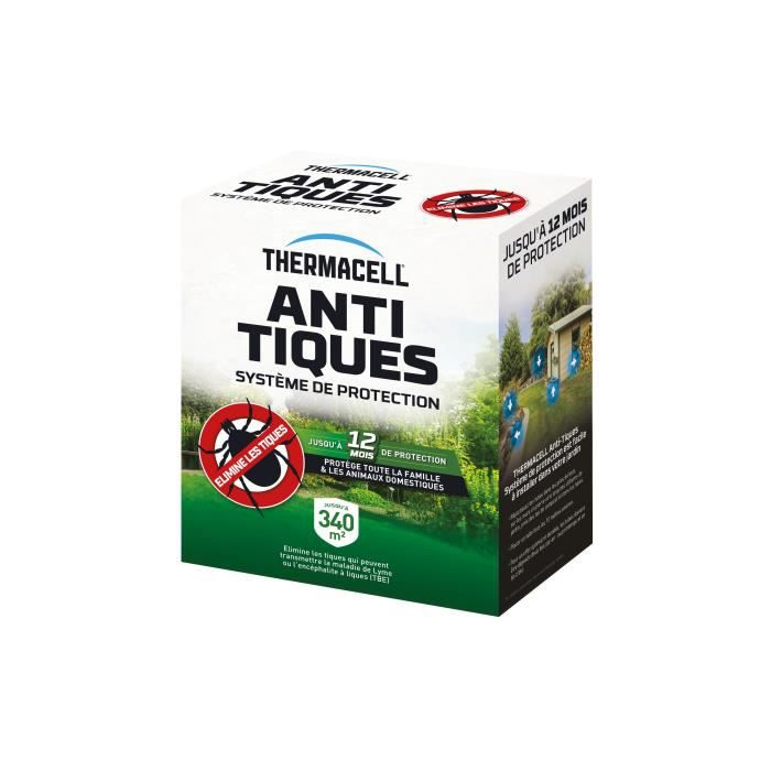 THERMACELL - Anti-Tiques - 8 Tubes pour 340 m²