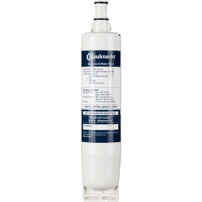 WPRO SBS103 Filtre à eau interne d'origine pour réfrigérateurs américains BAUKNECHT