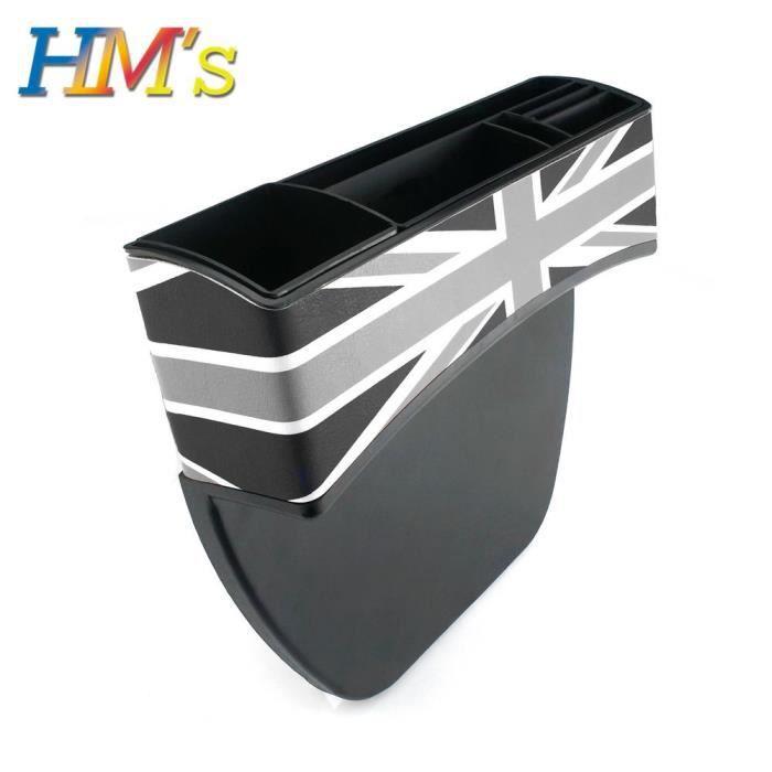 Grey Union Jack -Boîte de rangement pour siège de voiture MINI Cooper S One,accessoire pour MINI Cooper R56,R55,R50,R53,R60,F5