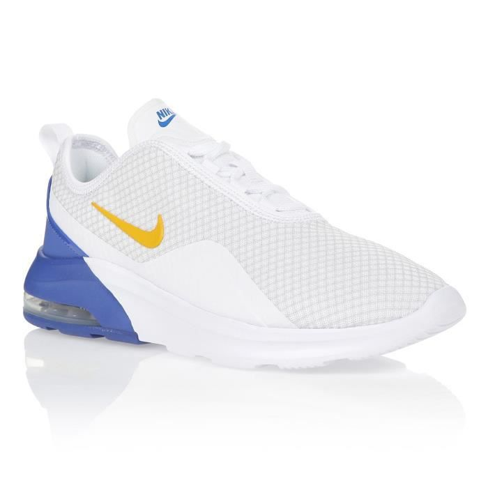 NIKE Baskets AIR MAX MOTION 2 - Homme - Blanc/Bleu/Jaune