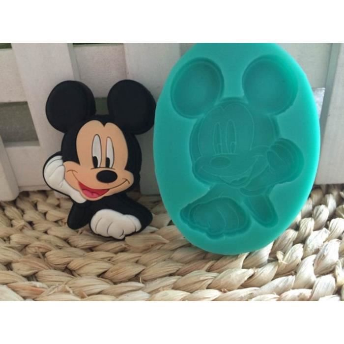 moule en silicone 3d mickey mouse moule d coration fondant moule de sucre silicone pour. Black Bedroom Furniture Sets. Home Design Ideas