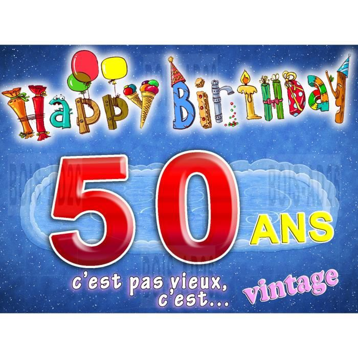 Carte Anniversaire 50 Ans Envoi Express 24 H Achat Vente Faire Part Invitation Carte Anniversaire 50 Ans Cdiscount