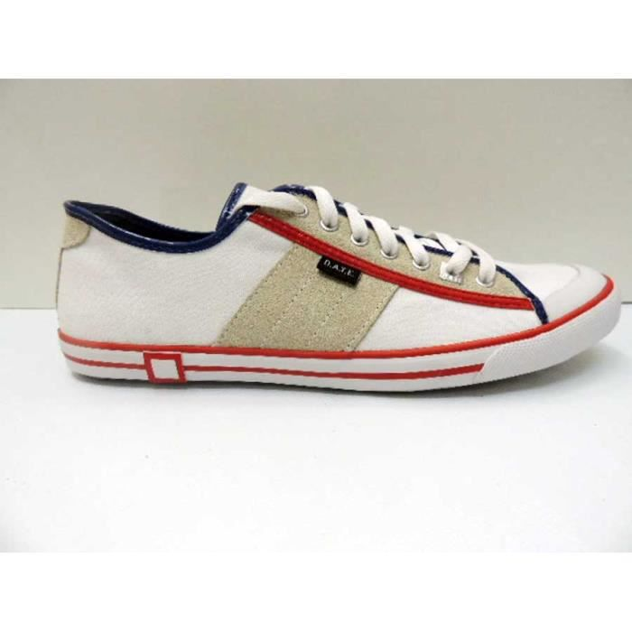 Chaussure Baskets Basse Date Tender Low White Homme Pointure 43