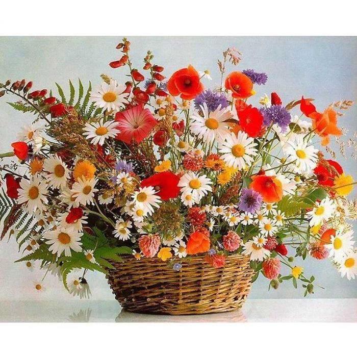 Peinture Par Numero Fleurs Achat Vente Pas Cher