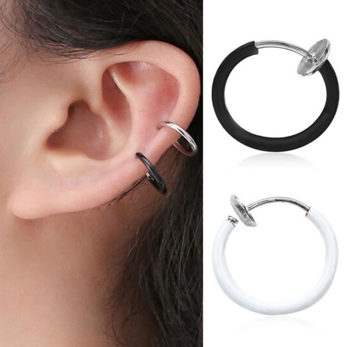 petit anneau boucle d'oreille femme