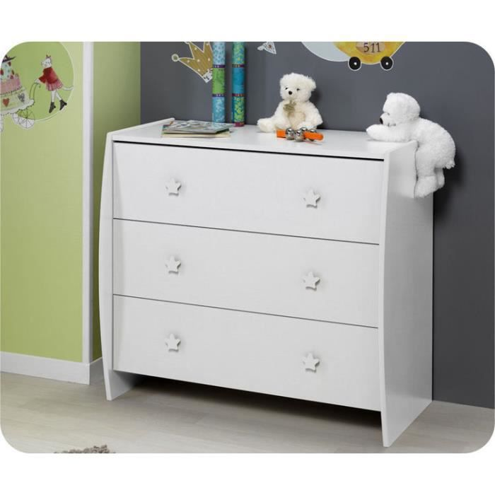 Commode b b soho blanche plan langer amovib achat vente table lange - Commode blanche bebe ...