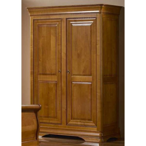 armoire 2 portes merisier massif 39 jeanne 39 achat vente. Black Bedroom Furniture Sets. Home Design Ideas