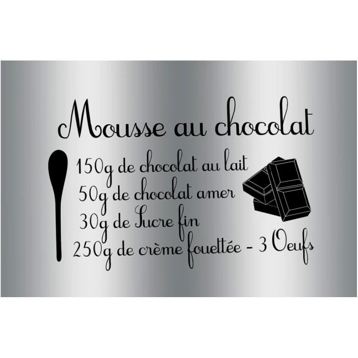 plaque sticker gourmand protection cuisine rece achat vente stickers aluminium cdiscount. Black Bedroom Furniture Sets. Home Design Ideas
