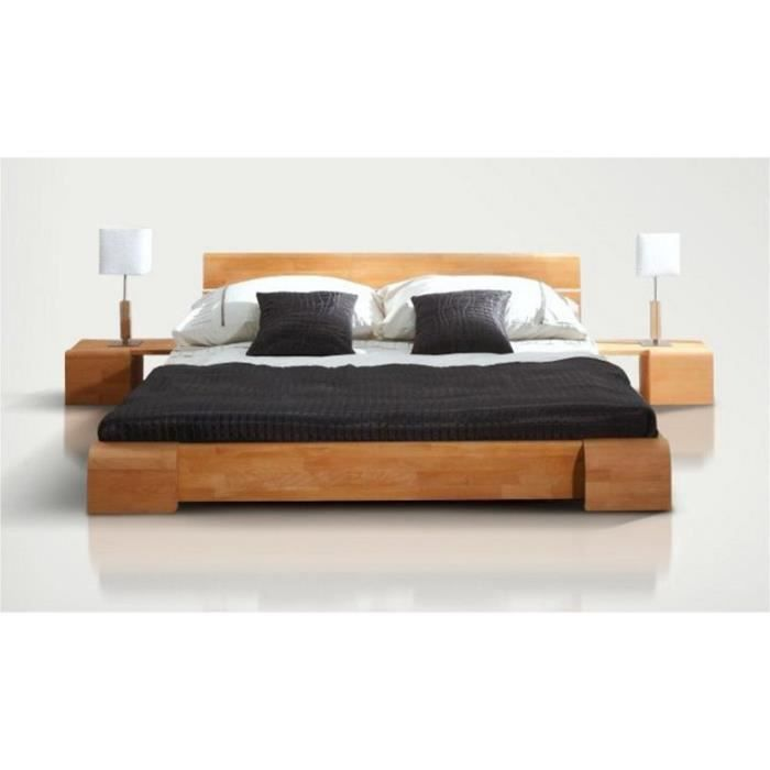 lit design tokyo bas 140x200 2 chevets achat vente. Black Bedroom Furniture Sets. Home Design Ideas
