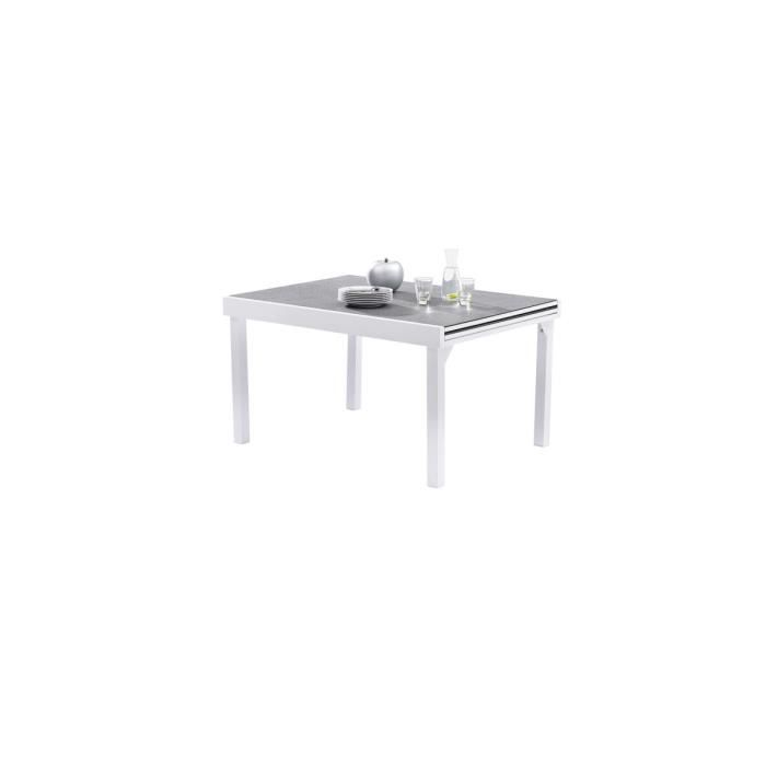 Table extensible 135/270 Stone/Blanc - MODULO - Achat / Vente table ...