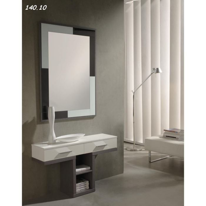console avec miroir salou 04 10 cendr blanc achat vente console console avec miroir. Black Bedroom Furniture Sets. Home Design Ideas