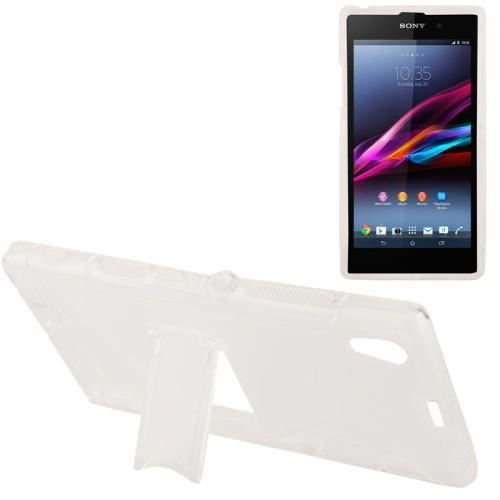 coque sony xperia z1 transparent s line translucide frosted plastic anti skid. Black Bedroom Furniture Sets. Home Design Ideas