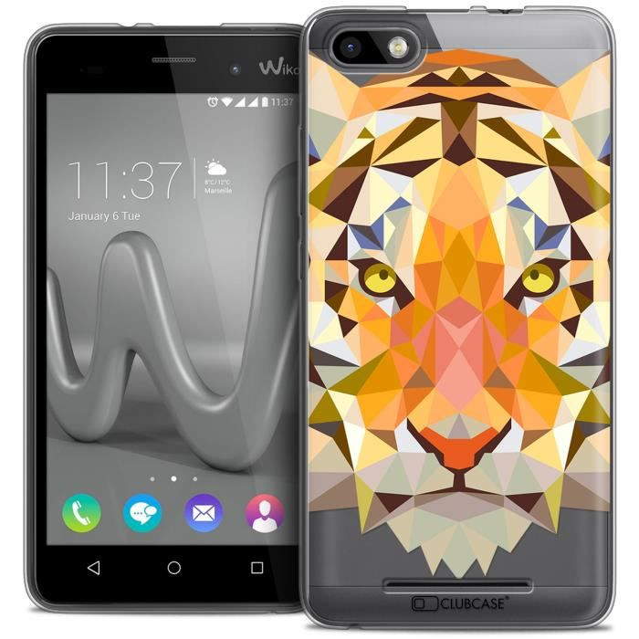 coque gel wiko lenny 3 extra fine polygon animals tigre achat coque bumper pas cher avis. Black Bedroom Furniture Sets. Home Design Ideas