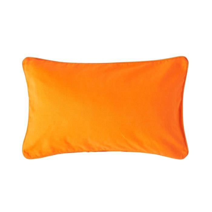 coussin d houssable orange 30 x 50 cm achat vente housse de coussin cdiscount. Black Bedroom Furniture Sets. Home Design Ideas