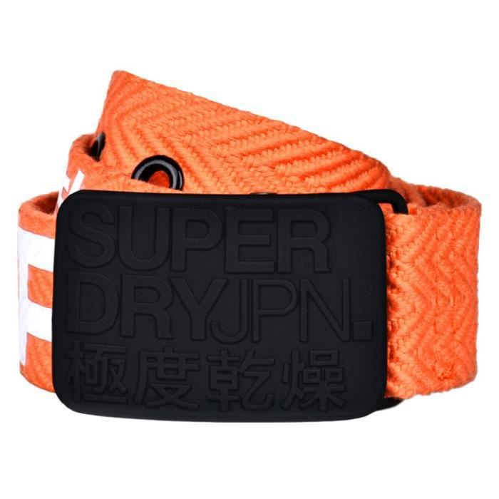 2018 shoes fashion style 100% authentic SUPERDRY Super Sid Ceinture Homme - Taille M - ORANGE Orange ...