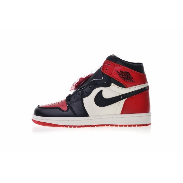 low priced c754b f2f09 Basket NIKE Air Jordan 1 Retro OG Bred Toe, Espadrilles Chaussures de  Basketball Homme Femme