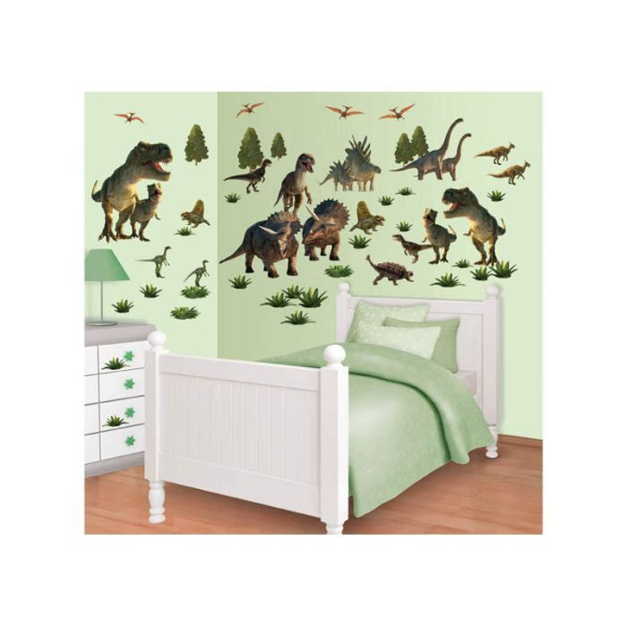 Stickers pays des dinosaures walltastic achat vente stickers cdiscount for Chambre jungle cdiscount