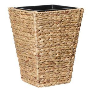 JARDINIÈRE - BAC A FLEUR Pot de fleur carré en jacinthe d'eau tressée - 30