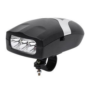 Tbest Lumi/ère Frontale de v/élo LED Phare Nuit Cyclisme s/écurit/é Lampe de Poche 3 Modes d/'/éclairage aliment/é par 3 x Piles AA Non Inclus