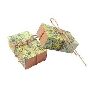 Petite faveur Boîtes Parti Candy Traiter Cadeau Mariage Anniversaire ruban doré 100PCS NEUF