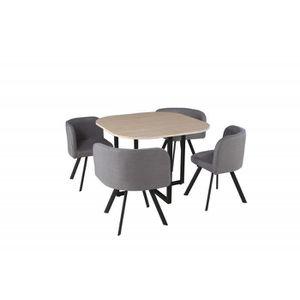 TABLE DE CUISINE  Ensemble table et chaises - Table carré + 4 chaise