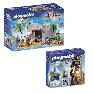 UNIVERS MINIATURE PLAYMOBIL Pack Super 4 Barbe de requin