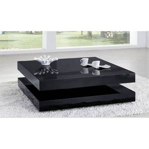 TABLE BASSE LAQUÉE NOIR CHARLENE - Achat / Vente table basse TABLE ...