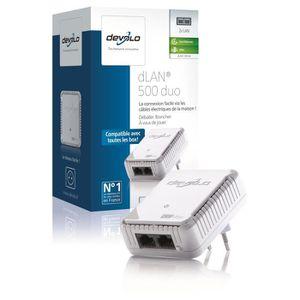 COURANT PORTEUR - CPL DEVOLO CPL filaire 500 Mbit/s, 2 ports Fast Ethern