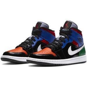 Nike air jordan 1 mid blanche et noir - Cdiscount