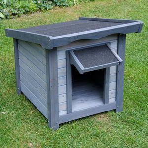 NICHE Niche pour chien en bois cage parc L 56 x l 76 x H
