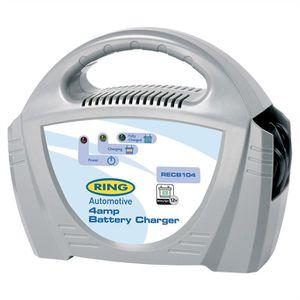 CHARGEUR DE BATTERIE Ring Chargeur de batterie 4 Amp 12 Volts