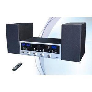 CHAINE HI-FI CHAÎNE HI-FI RÉTRO AVEC RADIO FM,CD MP3,BLUETOOTH,