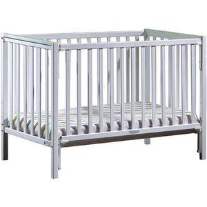LIT BÉBÉ Lit bébé à barrière coulissante Camille  Vert 60x1