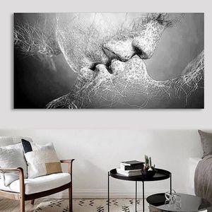 Tableau peinture en noir et blanc