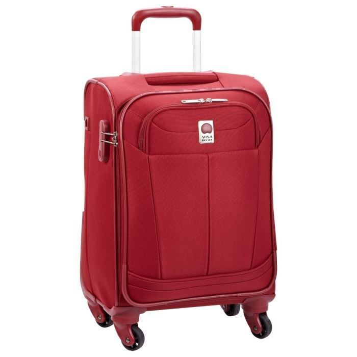 visa delsey valise trolley 4 roues 53 cm pin up 4 rouge achat vente valise bagage visa. Black Bedroom Furniture Sets. Home Design Ideas