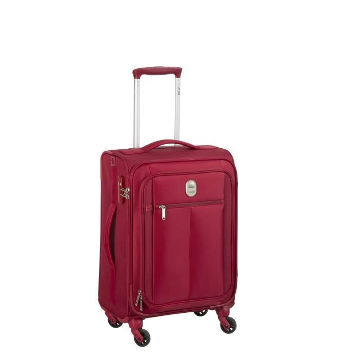 visa delsey valise trolley extensible souple 4 roues 78cm pin up5 rouge rouge achat vente. Black Bedroom Furniture Sets. Home Design Ideas